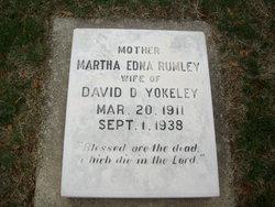Martha Edna <I>Rumley</I> Yokeley