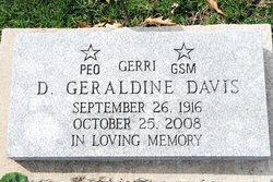 """Dorothea Geraldine """"Gerri"""" <I>Gilstrap</I> Davis"""