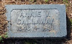 """Ann Elizabeth """"Annie"""" <I>Vickers</I> Callaway"""