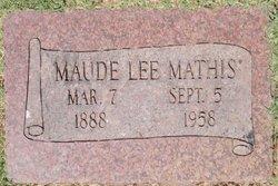 Maude Lee <I>Scates</I> Mathis