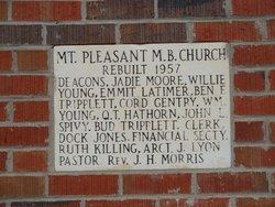 Mount Pleasant #2 Missionary Baptist Cemetery