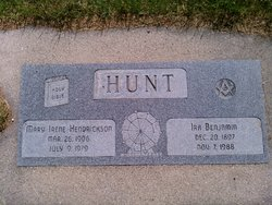 Mary Irene <I>Hendrickson</I> Hunt