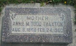 Annie Maria <I>Todd</I> Thaxton