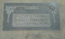 Elizabeth Ann <I>Thaxton</I> Nelson