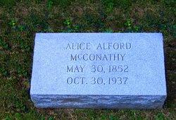 Mrs Alice A. <I>Alford</I> McConathy