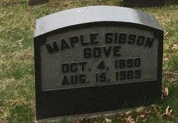 Maple <I>Gibson</I> Gove