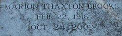 Marion Thaxton Collins Brooks
