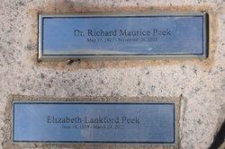 "Dr Richard Maurice ""Dick"" Peek"