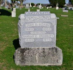 Hannah E. <I>Crossley</I> Adams