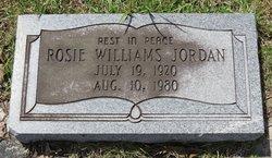 Rosie <I>Williams</I> Jordan