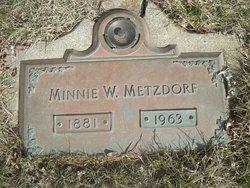 Minnie W. Metzdorf