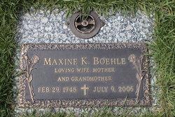 Maxine K <I>Jacobs</I> Boehle