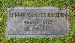 Minnie <I>Wallace</I> Breeden