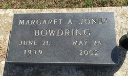 Margaret A. <I>Jones</I> Bowdring