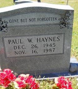 Paul W Haynes