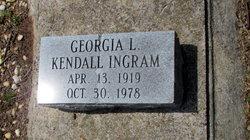 Georgia L <I>Kendall</I> Ingram