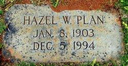 Hazel W. Plan
