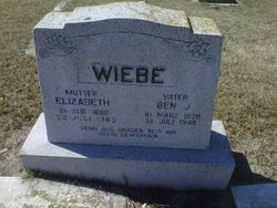Elizabeth G. <I>Harder</I> Wiebe