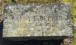 Alta I. <I>Price</I> Pepper