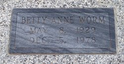 Betty Ann Worm