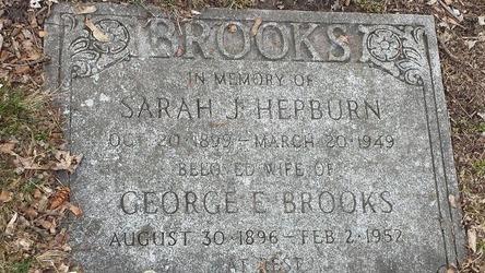Sarah J. <I>Hepburn</I> Brooks