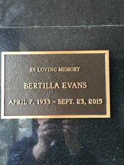 Bertilla Evans