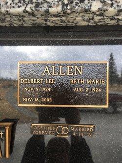 """Delbert Lee """"Red"""" Allen"""