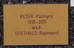 Palmyre <I>Keser</I> Goethals