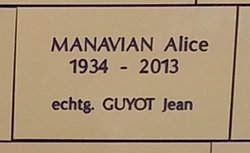 Alice <I>Manavian</I> Guyot
