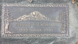 Minnie F <I>Clark</I> Lathrop