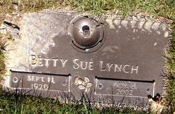 Betty Sue <I>Kienzle</I> Lynch