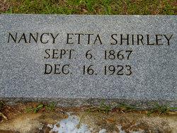 """Nancy Etta """"Nannie"""" <I>Cullifer</I> Shirley"""