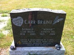 Jeanette <I>Hill</I> Carr-braint