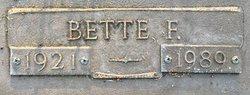 Bette F Swiger