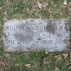 Dr William Edward Achilles, Jr