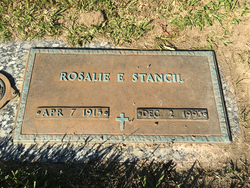 Rosalie <I>Edwards</I> Stancil