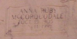 Anna Ruby <I>Mccorqudale</I> Hardy