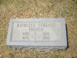 Kathleen <I>Holland</I> French