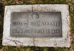 Marion <I>Hill</I> Barrett