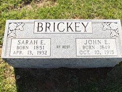 Sarah <I>Freeman</I> Brickey
