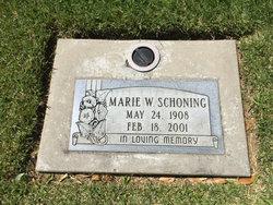 Marie Wilhelmine <I>Behrens</I> Schoning