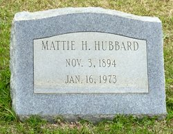 Mattie Lou <I>Hodge</I> Hubbard