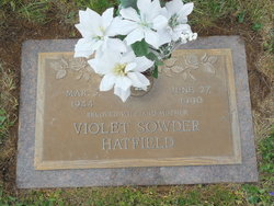 Violet Jean <I>Sowder</I> Hatfield