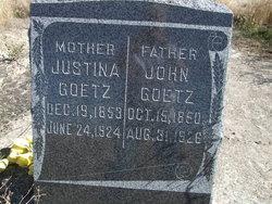 "Justina ""Gustina"" <I>Muller</I> Goetz"
