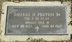 Robert W Poston, Sr