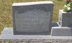 Elizabeth Jane <I>Sturgis</I> Gregory