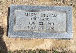 Mary <I>Holland</I> Ingram