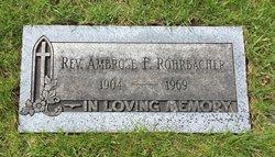 Rev Ambrose F Rohrbacher