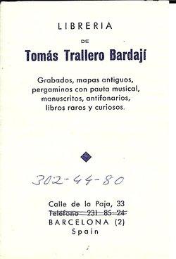 Dr Tomás Trallero Bardají