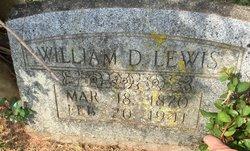 """William D """"Willie"""" Lewis"""